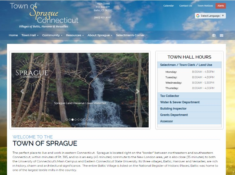 Town of Sprague, CT Image